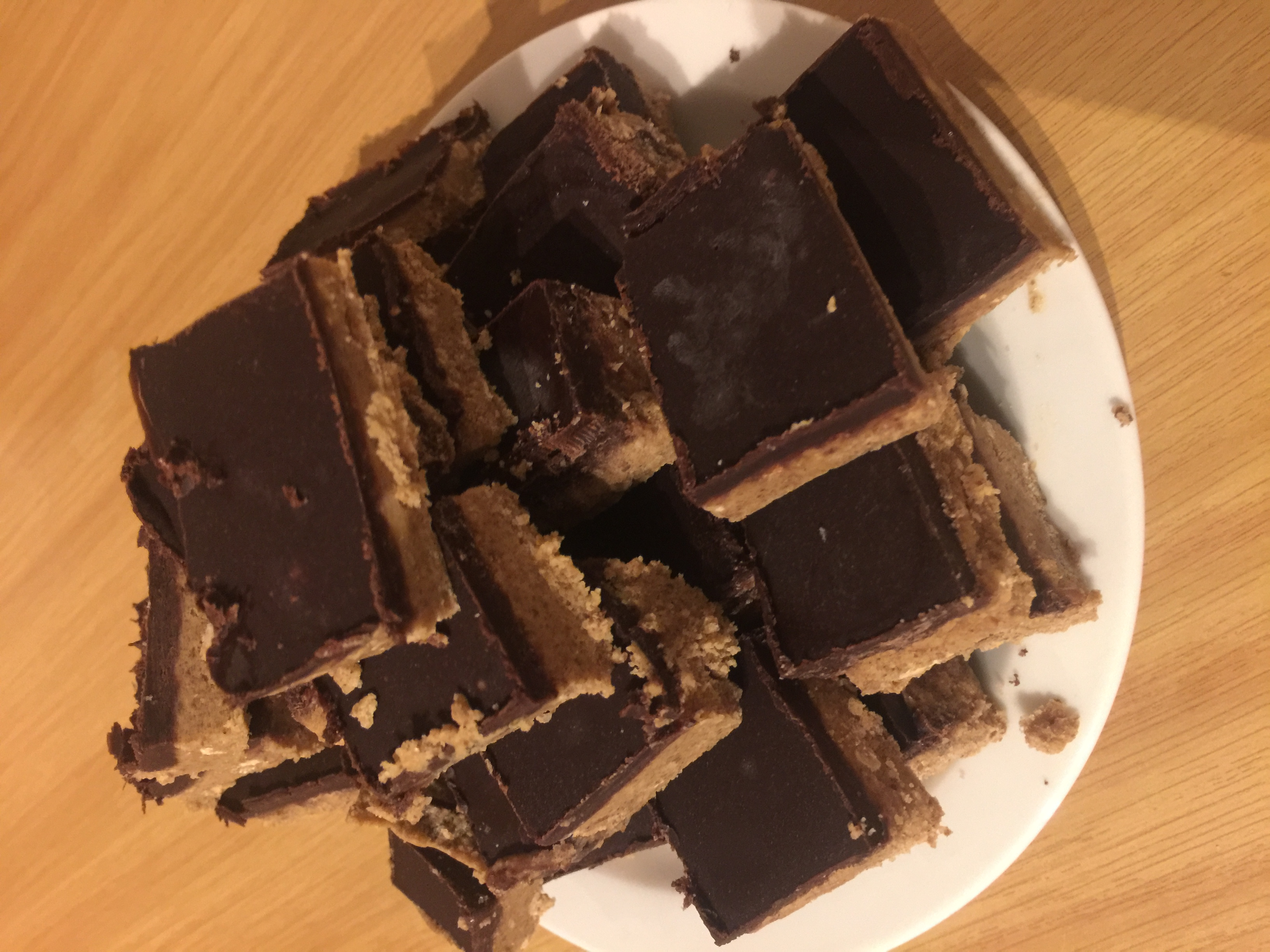 Peanut Butter Bars - the healthy version